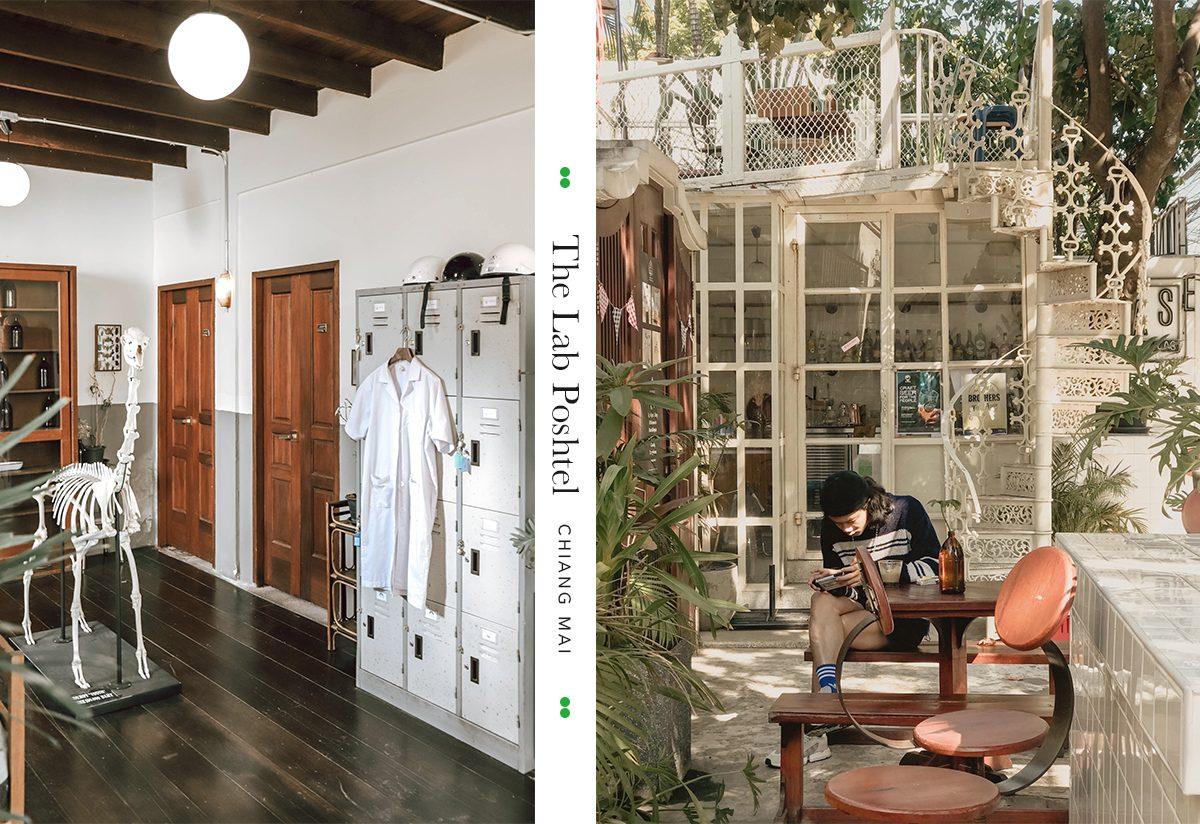 清邁|B&B The Lab Poshtel :入住有酒吧、選物、咖啡還有植栽包圍的迷人旅館吧!